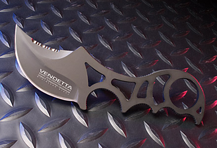 Vendetta Covert Neck Knife - Dark Ops Knives