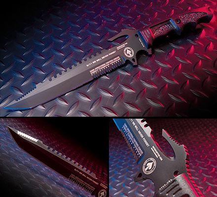 The Interceptor 911 E&E - Dark Ops Knives