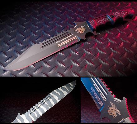 Paul Basal Shadow Fixed Blade Knife Dark Ops Knives